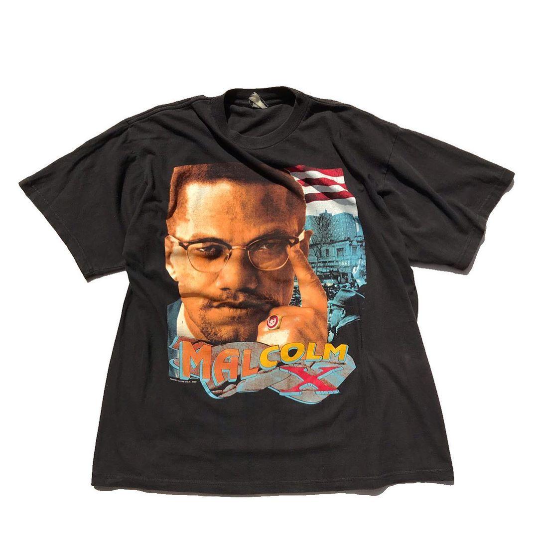 Deathteenation On Instagram 95 Malcolm X Rap Tees Style In 2020 Fashion Tees Rap Tee Colorful Tee