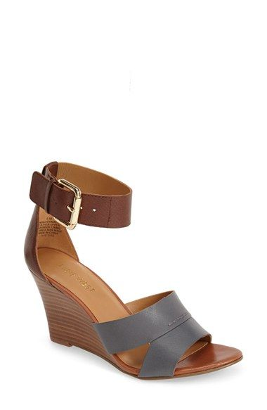 b5ae6782cda I ve got a thing for Navy this summer! Nine West  Chekmayte  Wedge Sandal  (Women) available at  Nordstrom