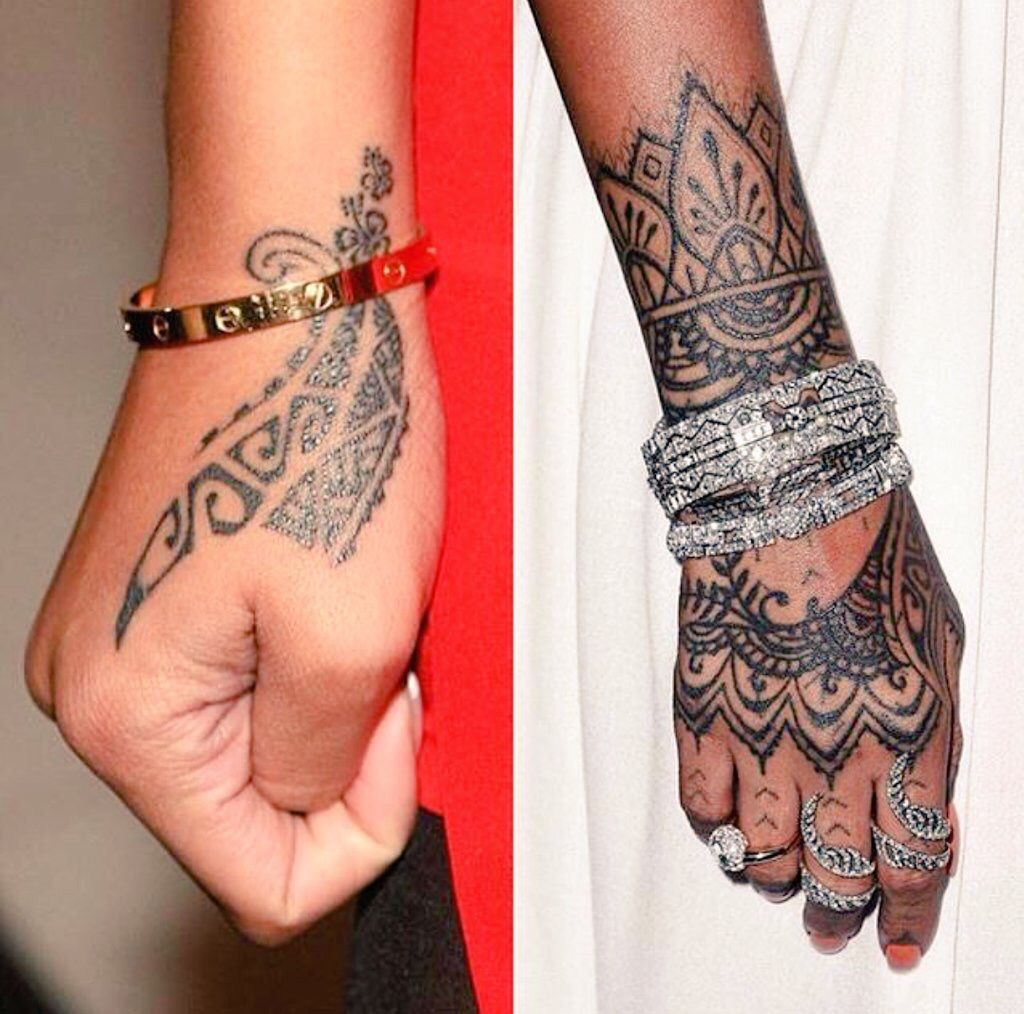 Henna Inspo Rihanna Tattoo Handtattoo Rihanna Hand Tattoo Hamsa Hand Tattoo Tattoos
