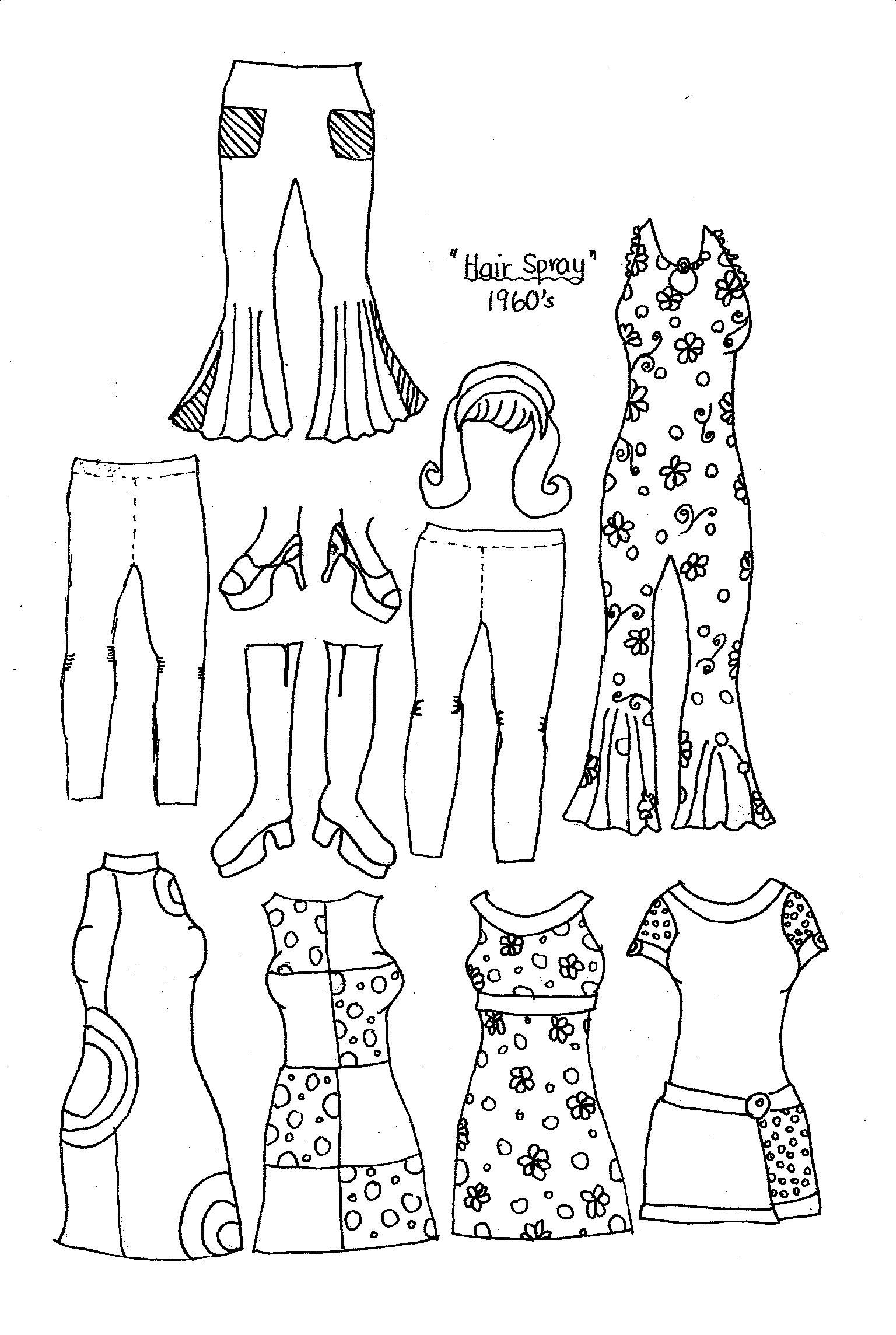 craft fashion coloring pages