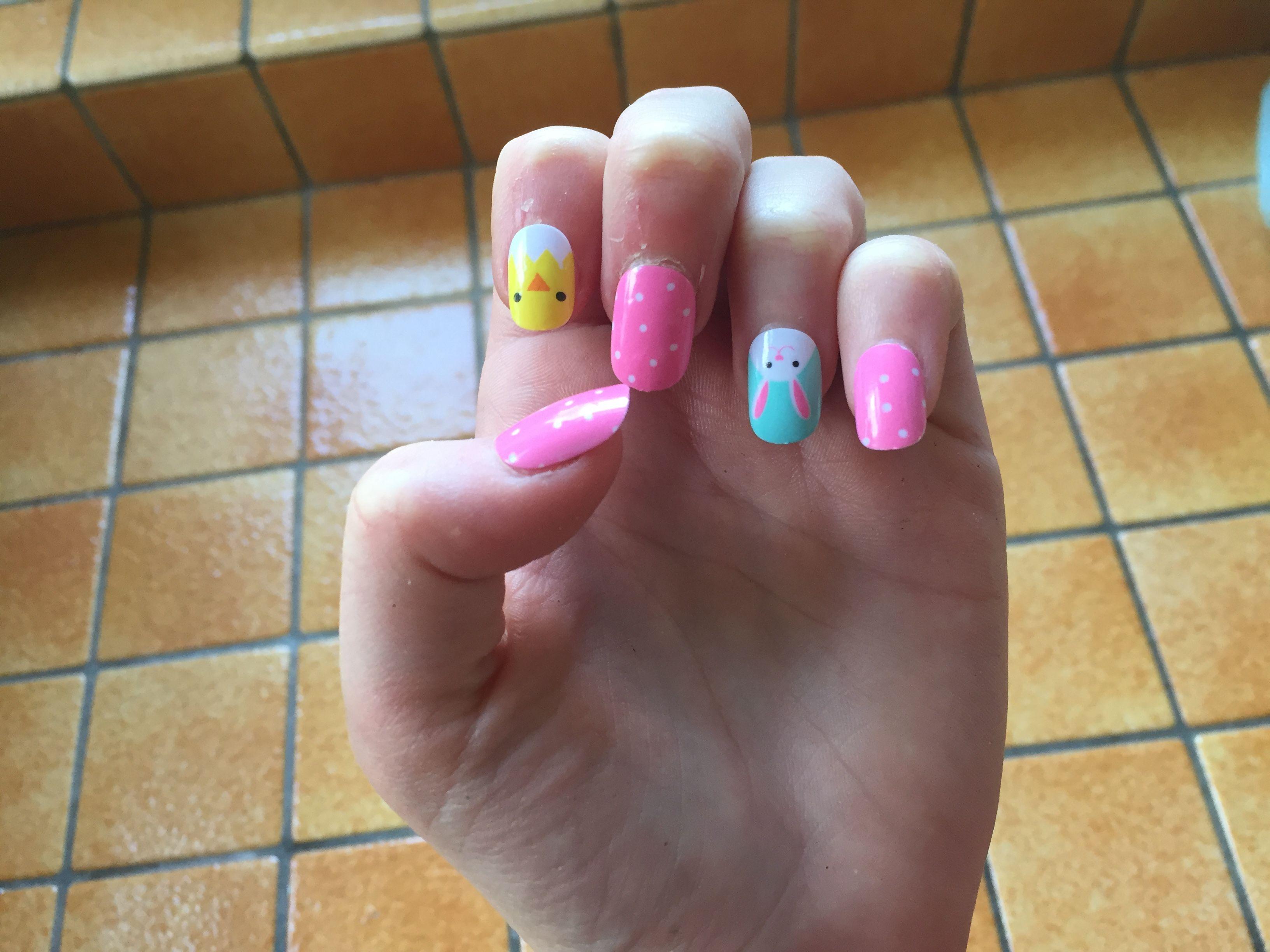 Easter fake nails for kids hoppy easter fake nails