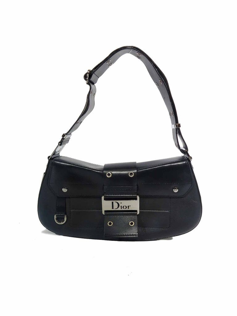 255fdf557 Christian Dior | Street Chic Columbus Shoulder Bag in black  www.sabrinascloset.com