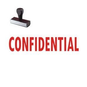 Large Confidential Rubber Stamp