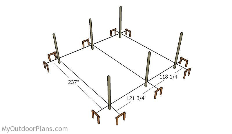 2 car carport plans myoutdoorplans free woodworking