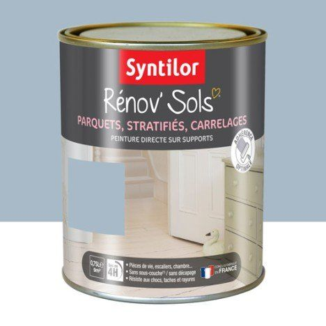 Peinture Sol Interieur Renov Sol Syntilor Bleu Grise 0 75 L Peinture Sol Carrelage Stratifie Sol