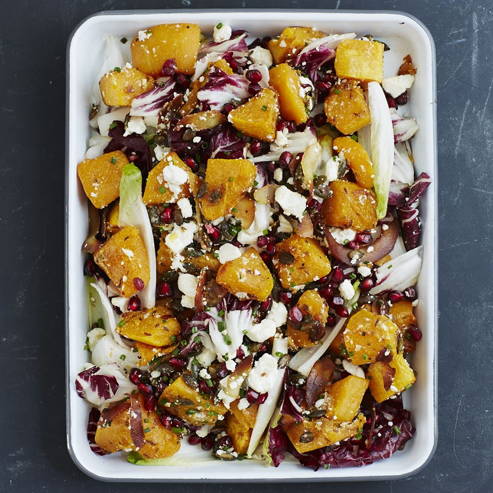 Vegetarian Dinner Party Recipes Ideas Part - 40: Roasted Squash Salad With Coconut, Feta And Endive, An Easy Vegetarian  Dinner Party Dish