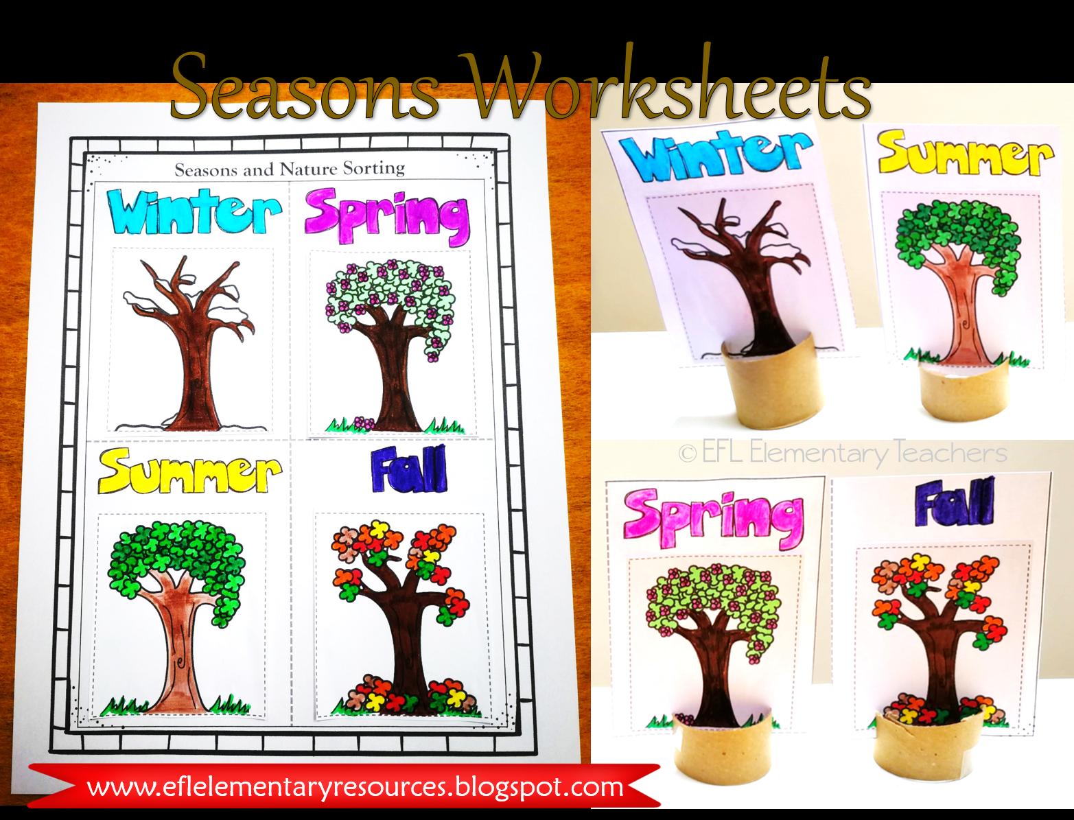 Predownload: Esl Seasons Worksheet Seasons Worksheets Art Activities For Kids Elementary [ 1195 x 1565 Pixel ]