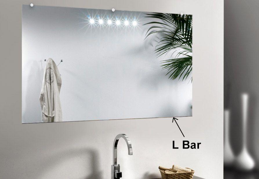 L Bar Mirror Beveled Mirror Wall Mounted Mirror