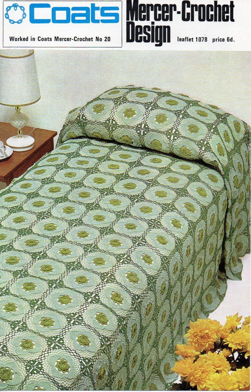 Crochet bedspread CROCHET PATTERN crochet motif bedspread granny ...