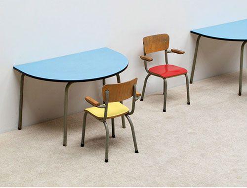 Design vintage enfant tubax chaise bureau formica kids chair