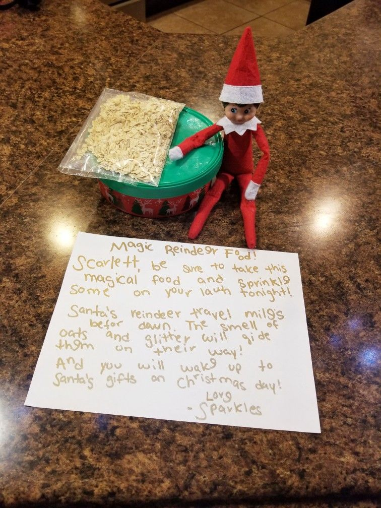 Elf On The Shelf Ideas Reindeer Food Elf On The Shelf Christmas Eve Idea Elf Chirstmas Eve Note Elfon Reindeer Food Magic Reindeer Food Reindeer Food Poem