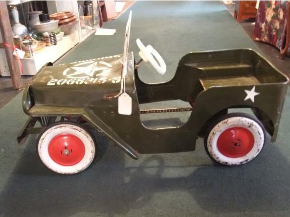 245 Vintage Jeep Pedal Car Pedal Cars Toy Pedal Cars