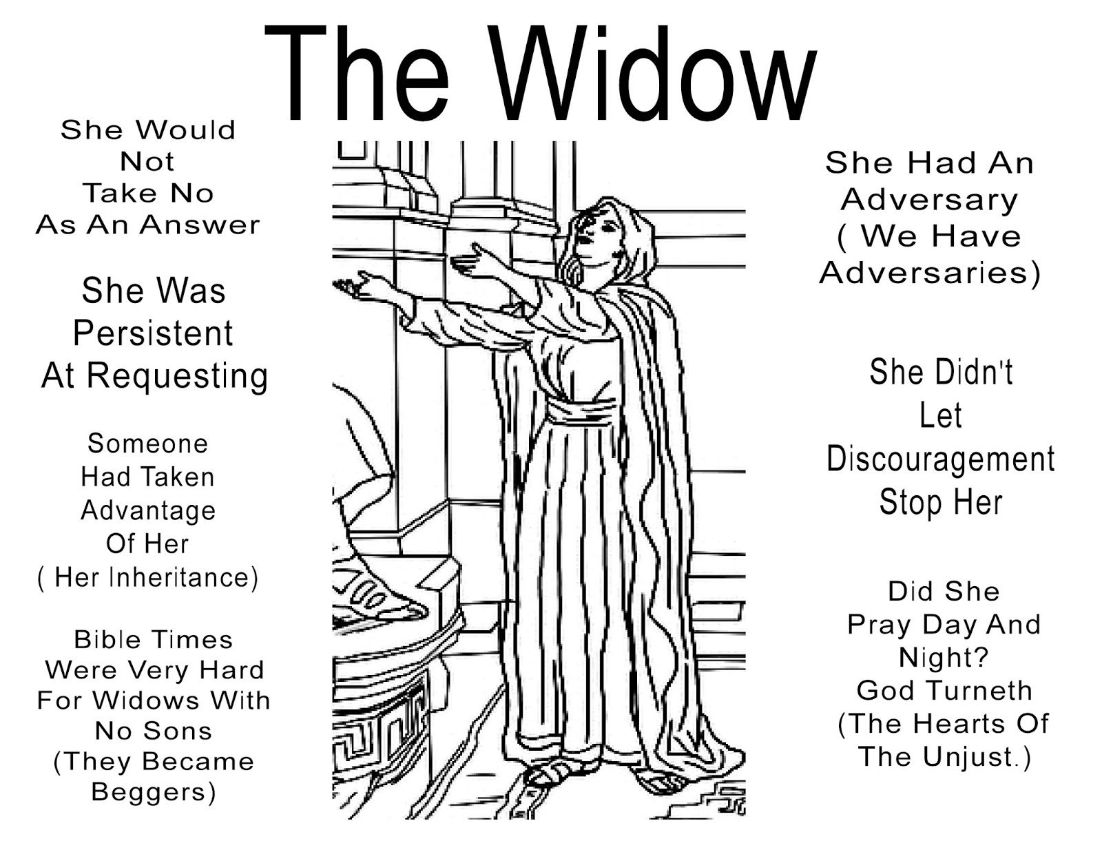 Pin By Gwyn Tilley On Parable Of The Persistent Widow