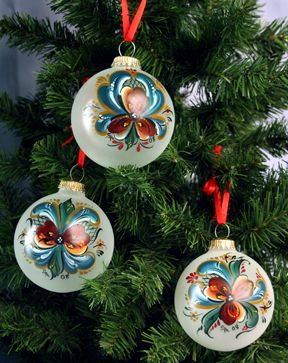 Painted Ornament Pattern Frosted Glass Ornament Our Products