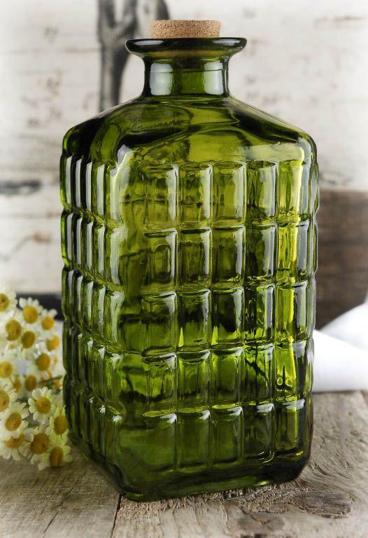 Glass Bottles Decorative Glass Jars & Bottles Decorative & Mason  Green Glass Bottles
