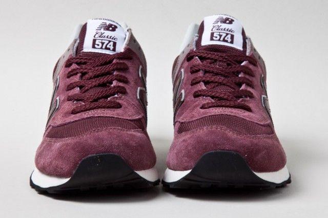 new balance 574 burgundy classic
