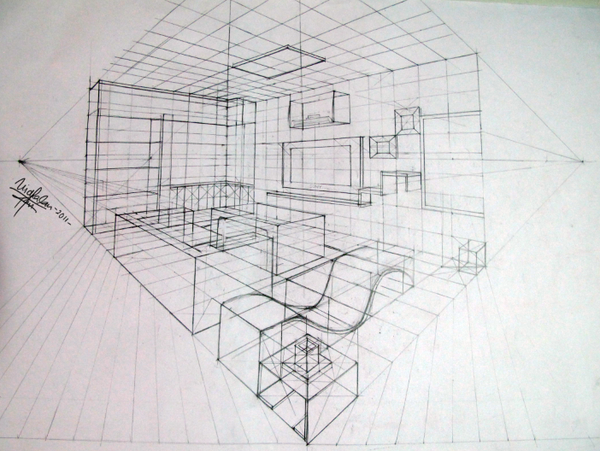 The Line Art And Living : Room perspective grid google search art