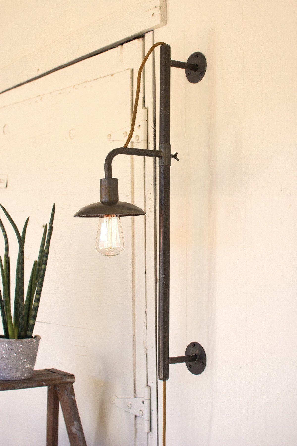 Kalalou vertical sliding wall lamp products pinterest sliding