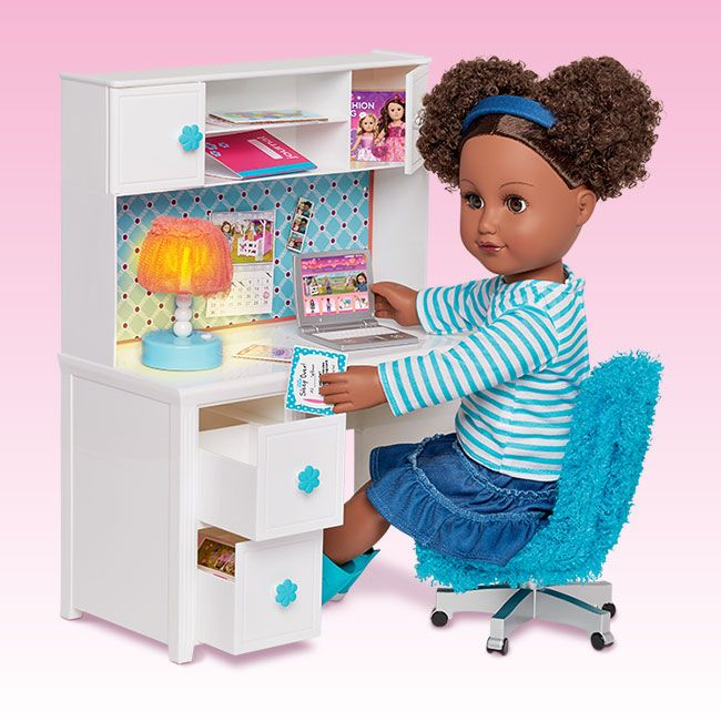 American Girl Doll Living Room Furniture: Desk & Accessories