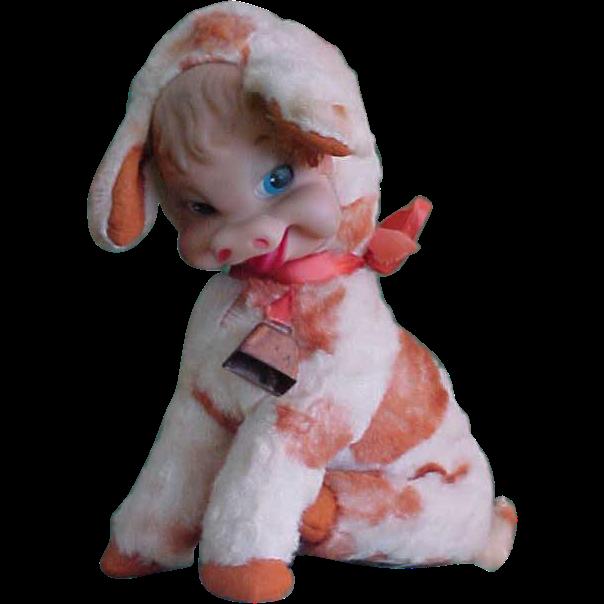 Darling 1950s Rushton Rubber Faced Calf Stuffed Toy Rushton Toys Vintage Plush Plush Animals
