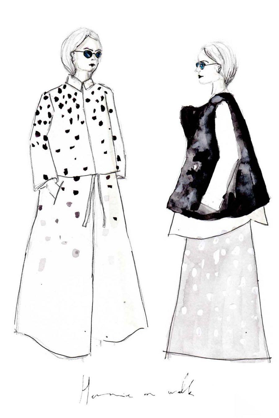 Erfahre, wie du deine deine eigenen Modezeichnungen erstellen kannst und auf was du achten musst + einfach Erklärung in 3 Schritten. Fashion Illustrations | Fashionsketch | Fashionsketchbook | ModeIillustration | Hermine on walk