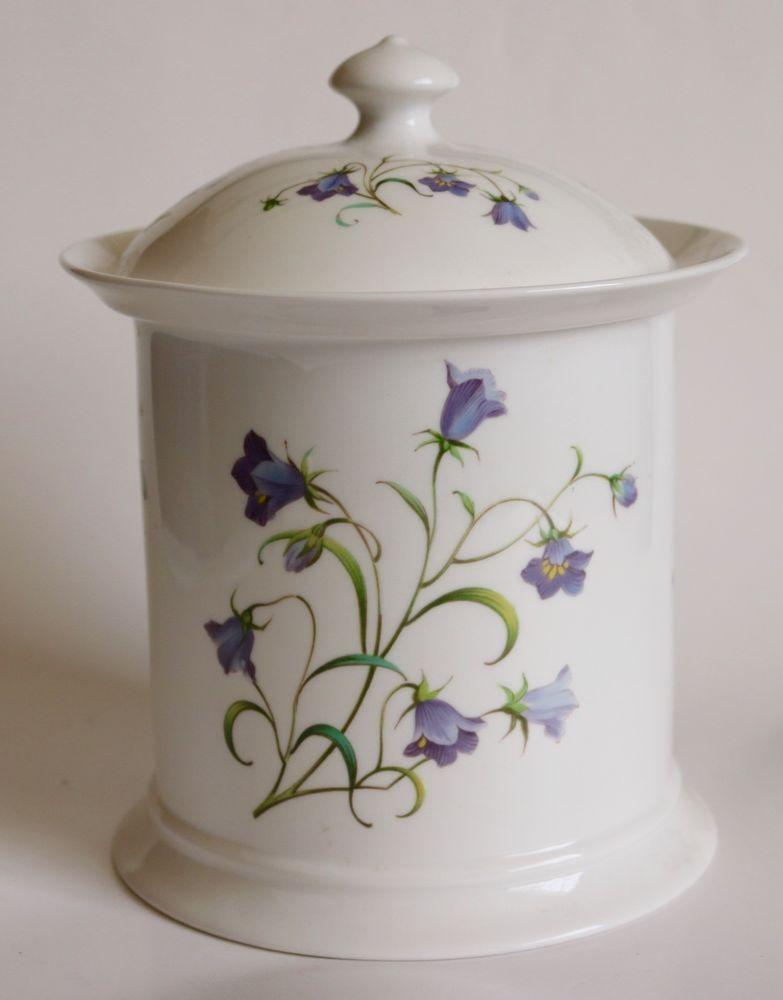 Spode Campanula Flower Pattern Cookie Jar Canister With Lid Spode Porcelain Spode Dinnerware Ebay