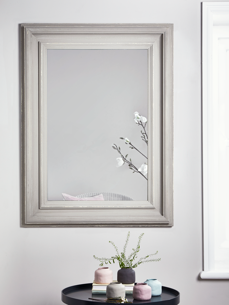 NEW Grey Distressed Frame Mirror | Hallway | Pinterest | Frame ...