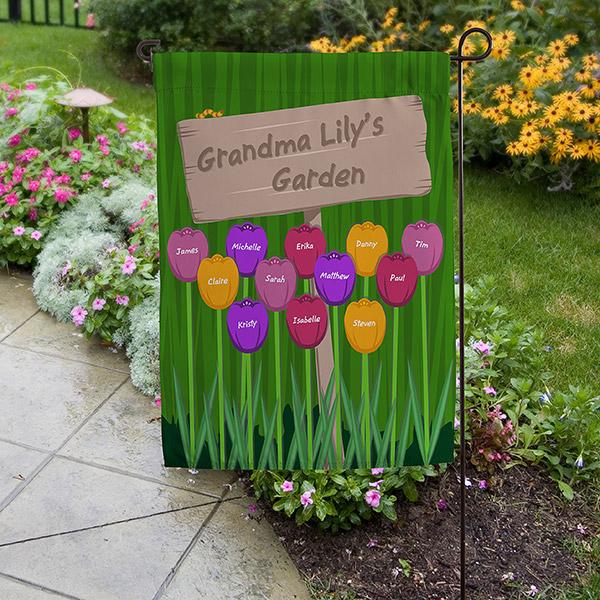 Grandma S Garden Personalized Garden Flag 16581 Personalized Garden Flag Grandmas Garden Grandma Gifts