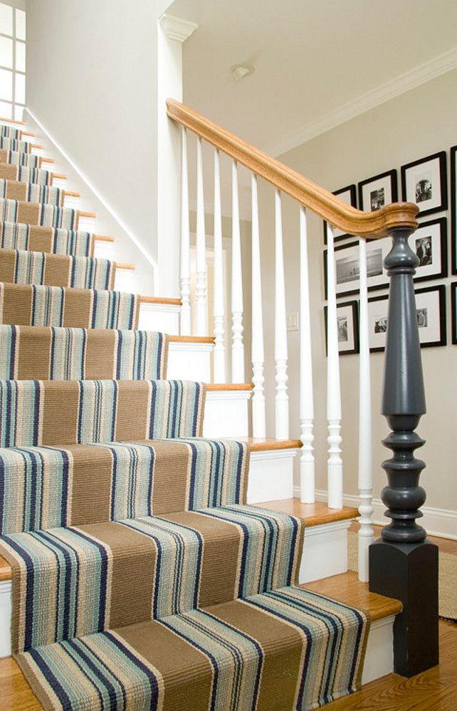 Best Stairway Runner Home Stairs Design Striped Stair 640 x 480