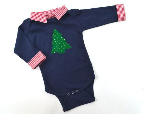 b55e99e6313f Baby Boy Christmas Outfit First Christmas Onesie by BrimmerBaby ...