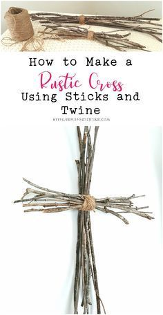 Photo of I made a simple cross by tying two bundles of sticks together to make a cross. I…