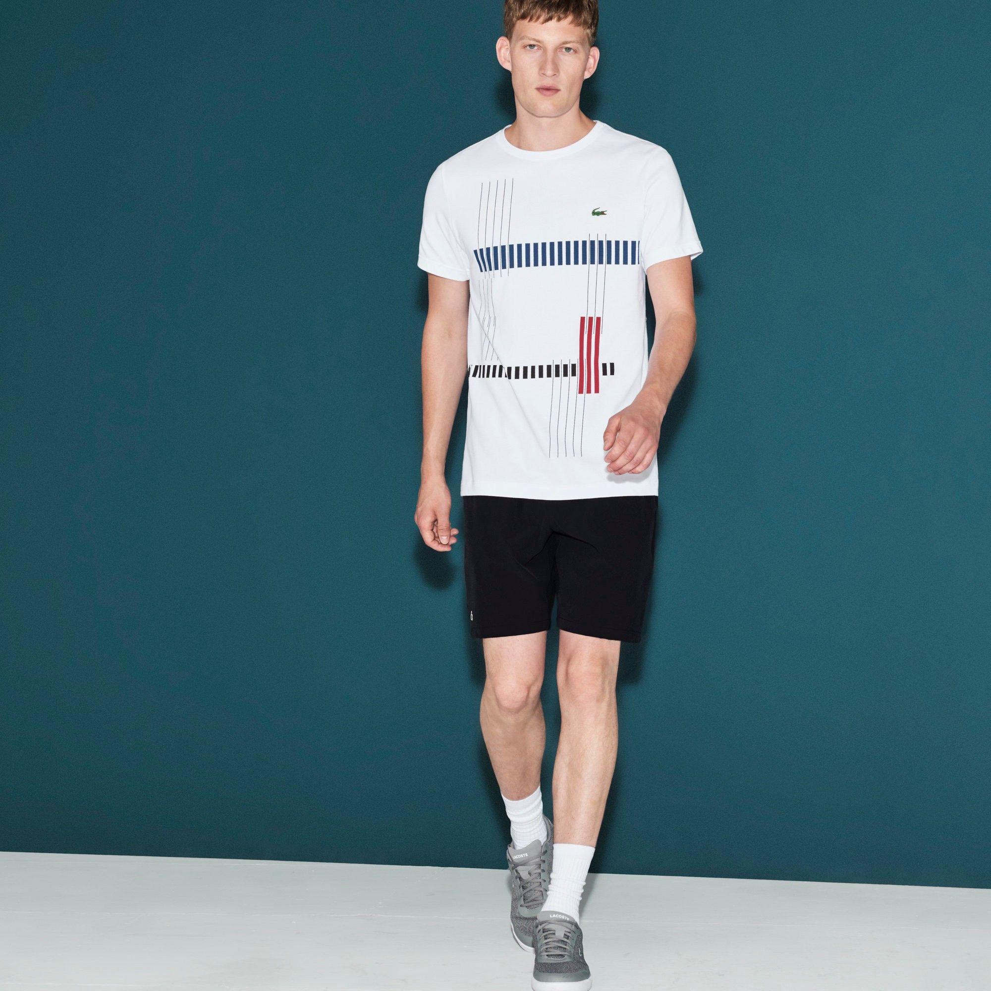 b9c369a3 LACOSTE Men's Lacoste SPORT Tennis Stretch Shorts - black. #lacoste ...