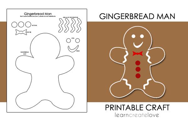 Free Printable Gingerbread Man Craft