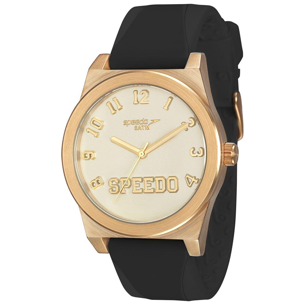 e44407107fc Relógio Feminino Analógico Speedo Fashion - Preto e Dourado - Relógios  Femininos - Comprar Relógios Femininos