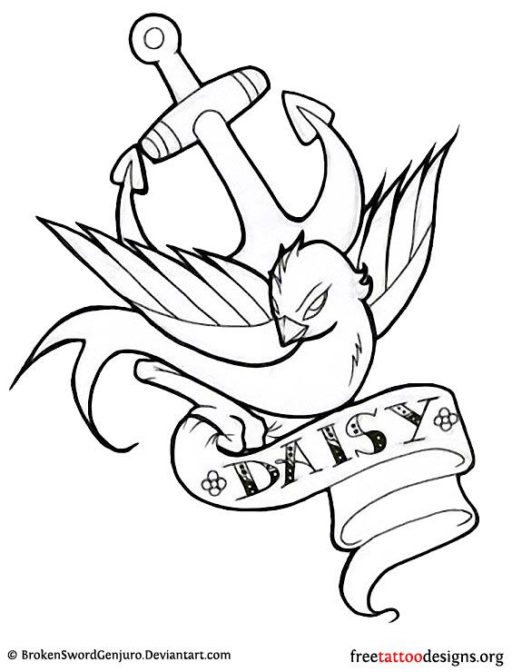 ducks tattoos coloring pages - photo#13