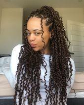 beatiful dark brown passion twist hairstyle for black women – #beatiful #black...#beatiful #black