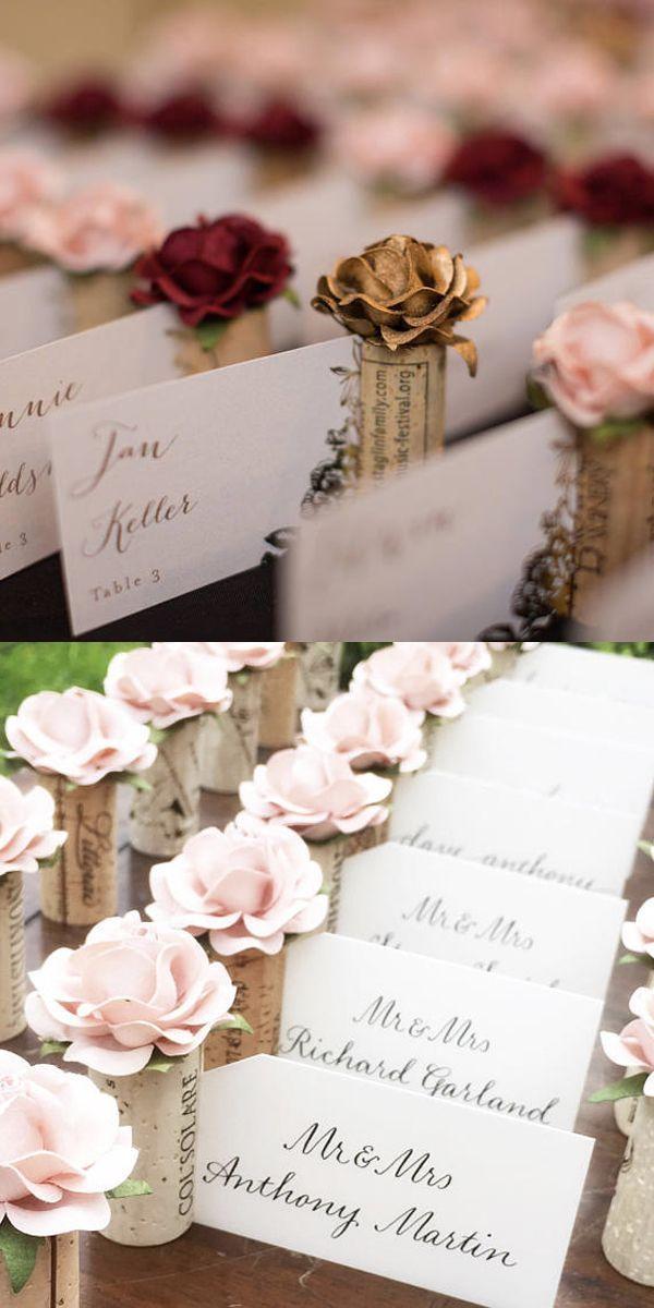 Wine Cork Place Card Holder Winery Wedding Decor Wedding