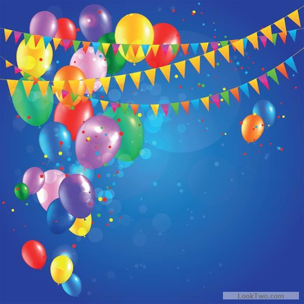 Free Colored Confetti With Happy Birthday Background Vector 03