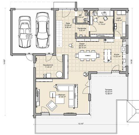 coller grundriss f r ein doppelhaus mit garage dazwischen h user pinterest grundrisse. Black Bedroom Furniture Sets. Home Design Ideas