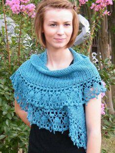 Paper Dolls Shawlette Crochet Pattern