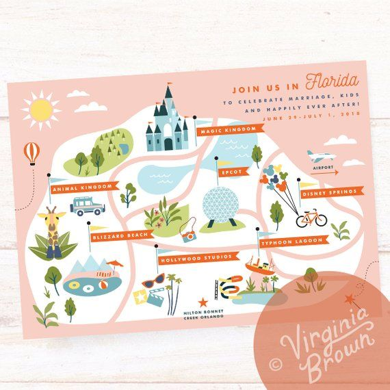 Custom Wedding Map, Wedding Invitation Insert, Save the Date, Welcome Map, Itinerary