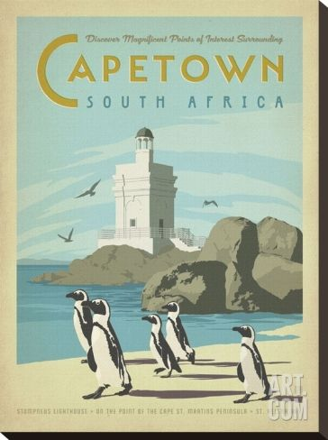 2c1a2c94ac Awesome vintage travel posters that will put Africa on your bucket list.  Cape Town