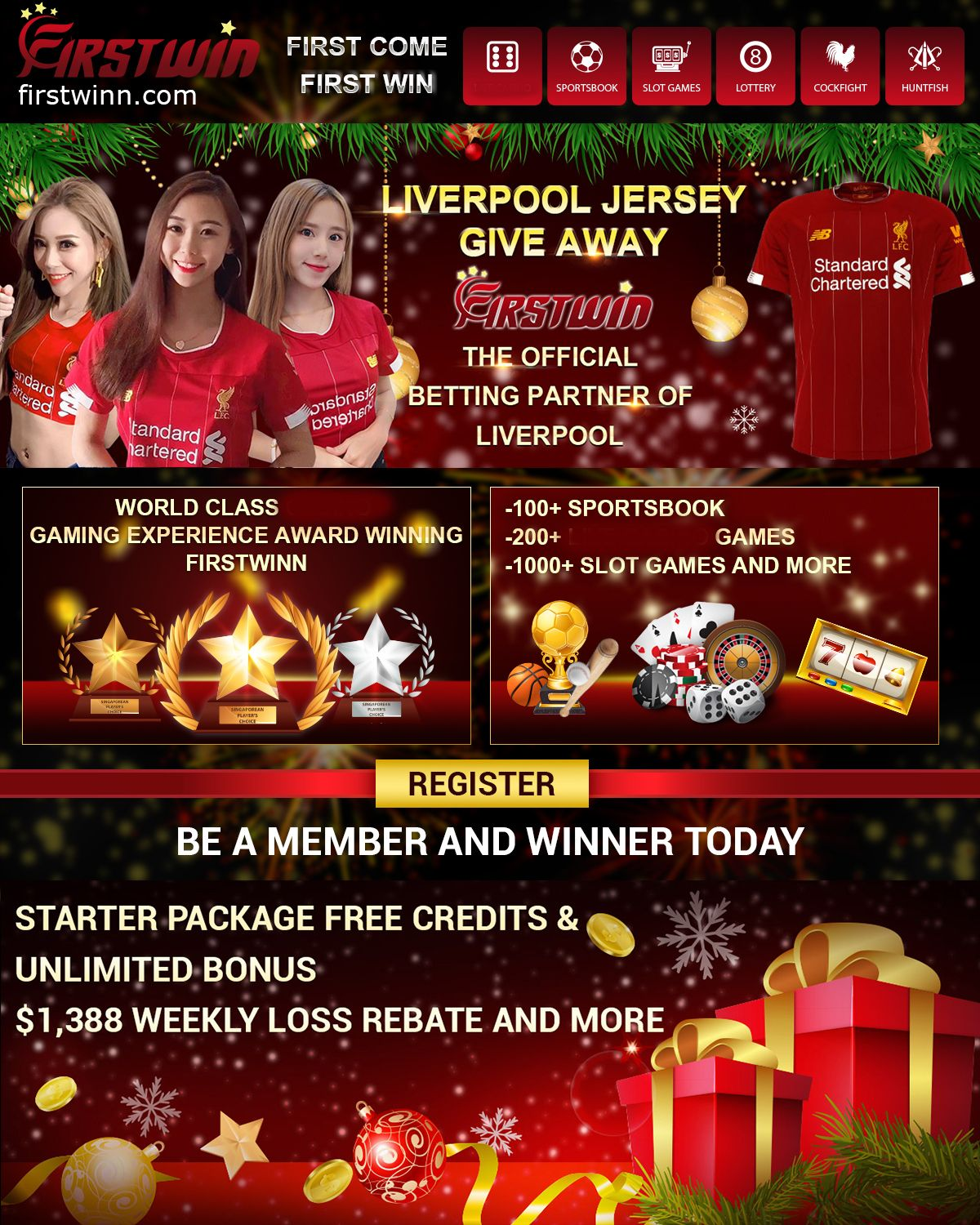 LIVERPOOL JERSEY GIVE AWAY Online casino FirstWin just be