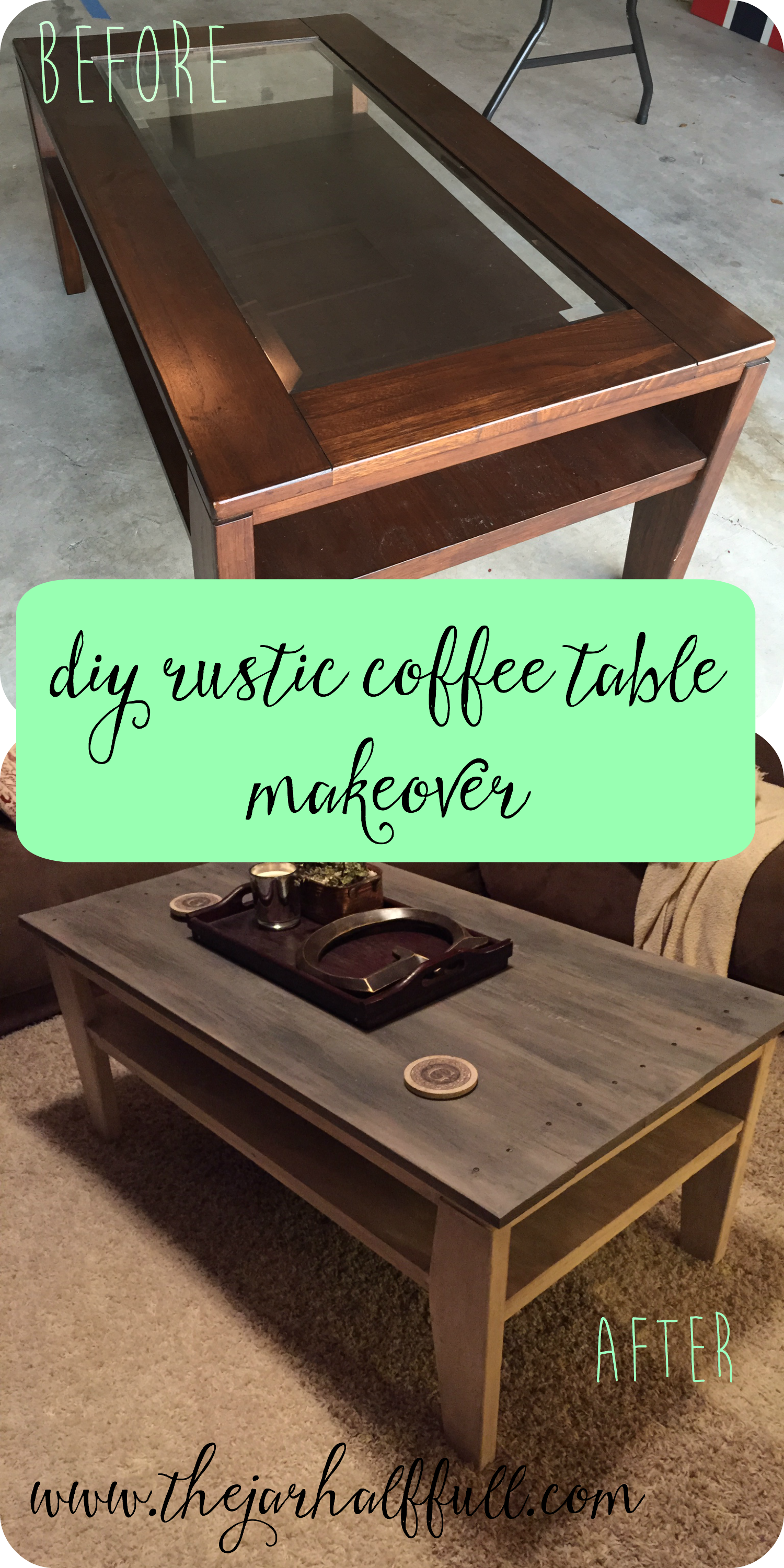 Glass Coffee Table Makeover 3