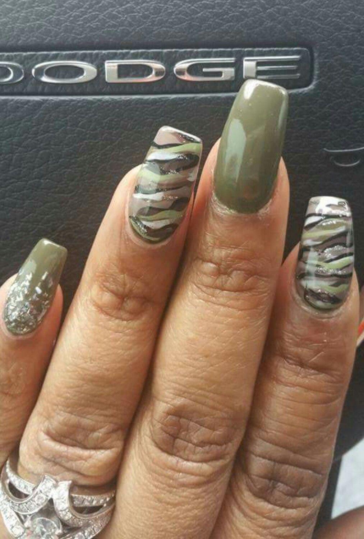 camouflage nail design nails