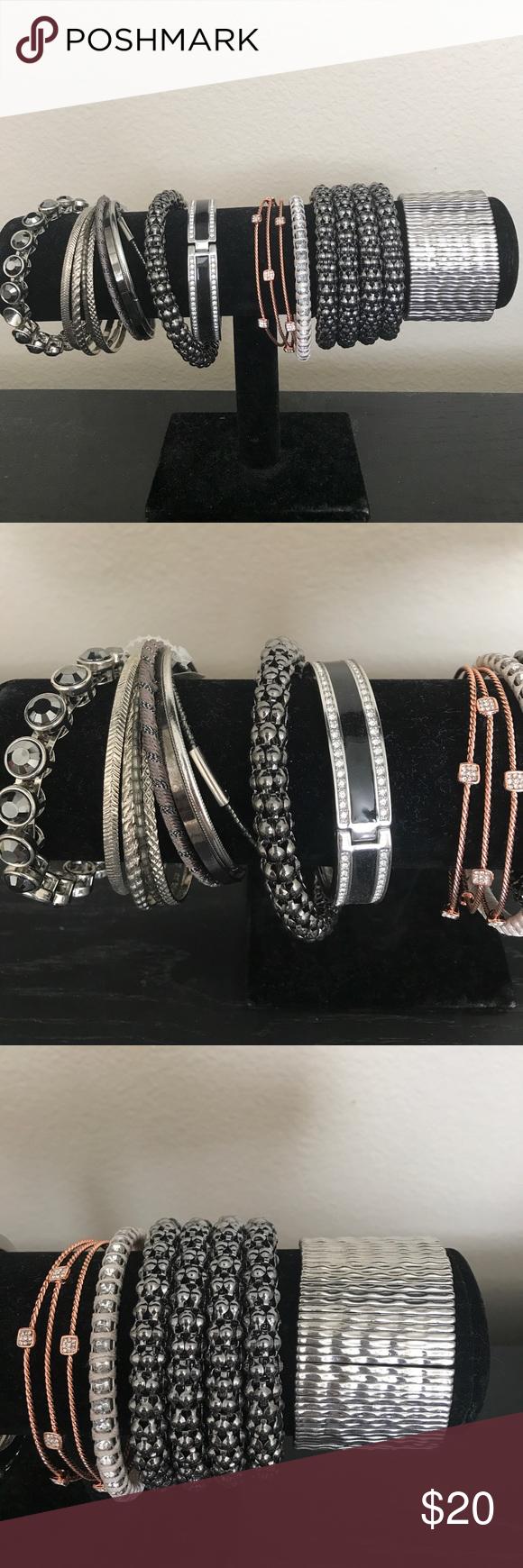 (8) LOFT bracelets MOVING SALE (8) never worn LOFT Bracelets- One still has a tag on it. Moving sale. Everything needs to go. 😃 LOFT Accessories