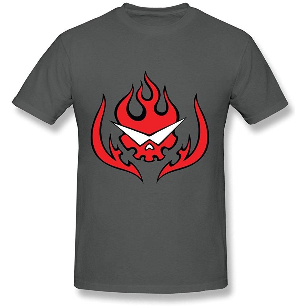 Sanmu Mens Sg Dai Gurren Lagann Logo T Shirt Xxl Deepheather Tshirt Logo Shirts T Shirt