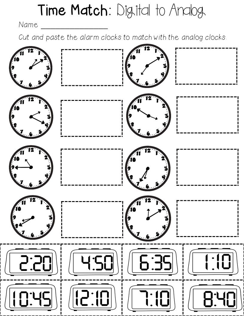 Telling Time To The Hour Half Hour 5 Minutes Digital And Analog Clocks Time Worksheets English Worksheets For Kids Kindergarten Telling Time [ 1056 x 816 Pixel ]
