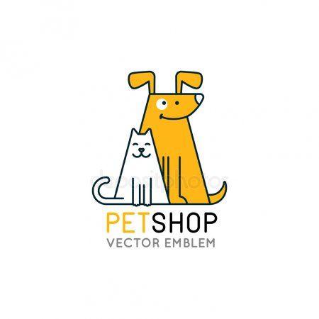 Vector Logo Design Template For Pet Shops Stock Vector Aff
