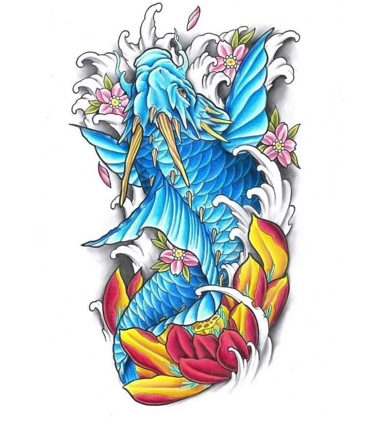 Pin By 14162624474 Tran On Asian Tattoos In 2020 Koi Dragon Tattoo Koi Tattoo Design Japanese Koi Fish Tattoo
